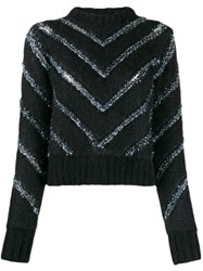 Y Project Chevron Stripes Jumper Black