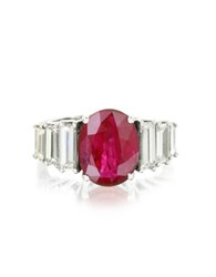 Forzieri Ruby And Diamond White Gold Ring Red