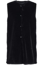7 For All Mankind Faux Shearling Vest Black
