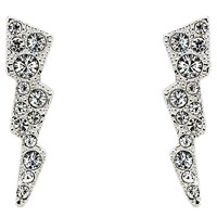 Cachet Swarovski Crystal Sparks Drop Earrings Silver