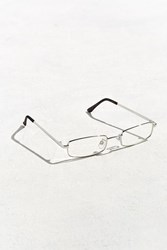 Urban Outfitters Metal Rectangle Readers Silver