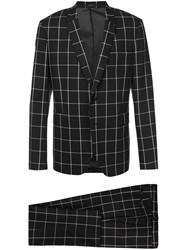 Paul Smith Checked Suit Black