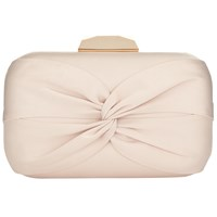 Phase Eight Gina Satin Box Clutch Bag Oyster