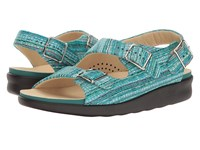 Sas Relaxed Rainbow Teal Women's Shoes Blue