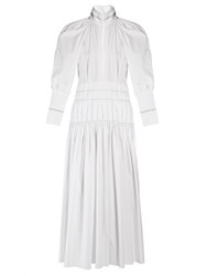 Ellery Sword Bubble Sleeved Maxi Dress White