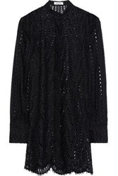 Valentino Broderie Anglaise Cotton Blend Tunic Black