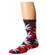 Huf Tie Dye Plantlife Sock Red Blue Crew Cut Socks Shoes