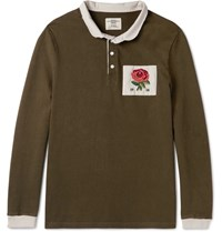 Kent And Curwen Appliqued Cotton Jersey Polo Shirt Unknown
