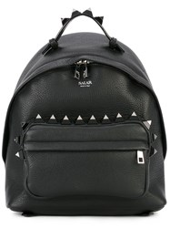 Salar 'Otti' Studded Backpack Women Leather Cotton Metal One Size Black