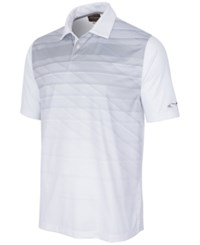 Greg Norman For Tasso Elba Men's Striped Polo Only At Macy's Bright White