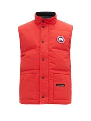 Canada Goose Freestyle Quilted Down Gilet Red