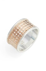 Anna Beck Women's Vermeil Cigar Band Ring Rose Gold Silver