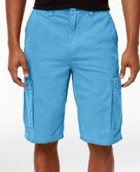 Lrg Men's B And T Cotton Cargo Shorts Light Turq