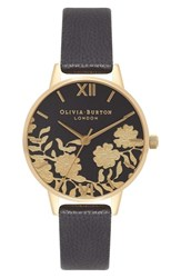 Olivia Burton Women's Lace Detail Leather Strap Watch 30Mm