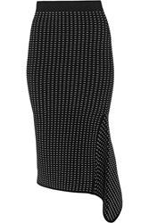 Jonathan Simkhai Dasha Textured Stretch Knit Skirt Black