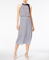Maison Jules Side Tie Midi Dress Only At Macy's Bright White Combo