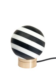 Editions Milano Alice Marble Table Light Black White