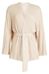 Mes Demoiselles Wrap Cardigan In Cotton And Cashmere