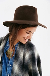 Urban Outfitters Italian Slouch Panama Hat Chocolate