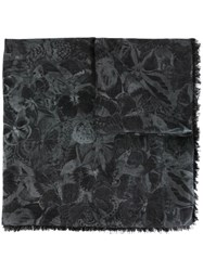 Valentino 'Camubutterfly' Scarf Grey