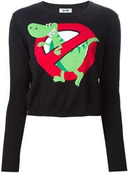 Moschino Cheap And Chic Dinosaur Intarsia Sweater