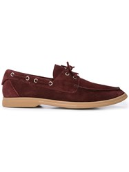 Brunello Cucinelli Classic Boat Shoes Red