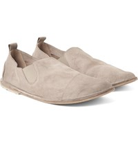 Marsell Washed Suede Loafers Mushroom