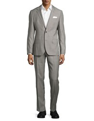 Hugo Textured Two Button Suit Grey