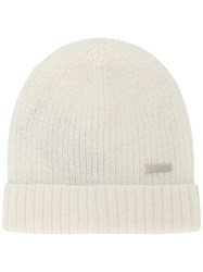 Woolrich Ribbed Knit Beanie Nude And Neutrals