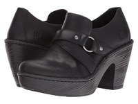 Born Onega Black Full Grain Leather Women's Clog Shoes