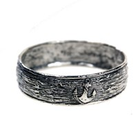 House Of Alaia Anchor Bangle Oxidized Sterling Silver