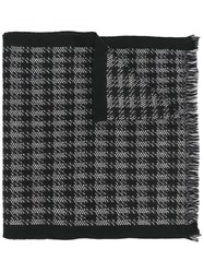Canali Patterned Scarf Black