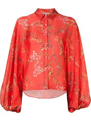 Alexis Nicolette Blouse Red