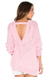 Wildfox Couture Solid Sweater Pink