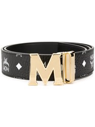 Mcm M Buckle Belt Black