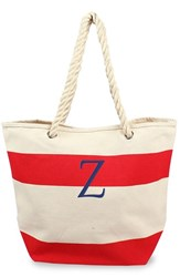 Cathy's Concepts Personalized Stripe Canvas Tote Red Red Z