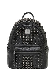Mcm Mini Stark Studded Leather Backpack