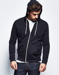 Brave Soul Bravesoul Classic Zip Through Hoodie Black