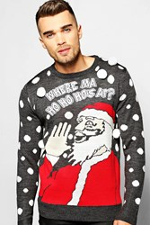 Boohoo Where Ma Ho Ho Ho's At Christmas Jumper Multi