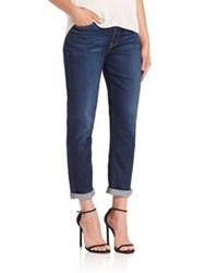Jen7 Straight Leg Rolled Cuff Jeans Authentic Royal Blue