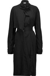 Iro Cameron Belted Crepe Trench Coat Black
