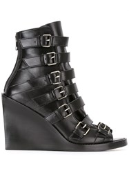 Ann Demeulemeester Buckled Straps Boots Black