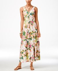 American Living Floral Print Maxi Dress Only At Macy's Orange Multi
