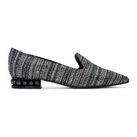 Nicholas Kirkwood Blue Tweed Casati Loafers