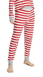 Sleepy Jones Helen Leggings Medium Stripe Red