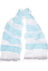 Lemlem Samara Striped Cotton Blend Scarf