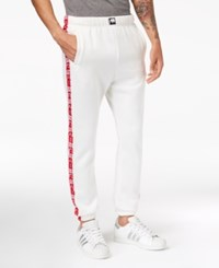 American Stitch Men's Fleece Sweatpants White