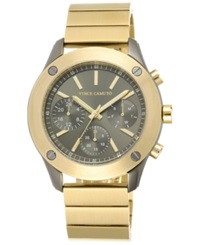 Vince Camuto Women's Gold Tone Stainless Steel Bracelet Watch 42Mm Vc 5248Gygb