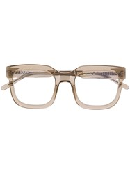 Kuboraum Transparent Square Frame Glasses 60
