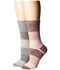 Columbia 2 Pack Marled Stripe Micro Poly Crew Rich Wine Assorted Crew Cut Socks Shoes Multi